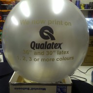 36 inch printed latex and the Qualatex Event