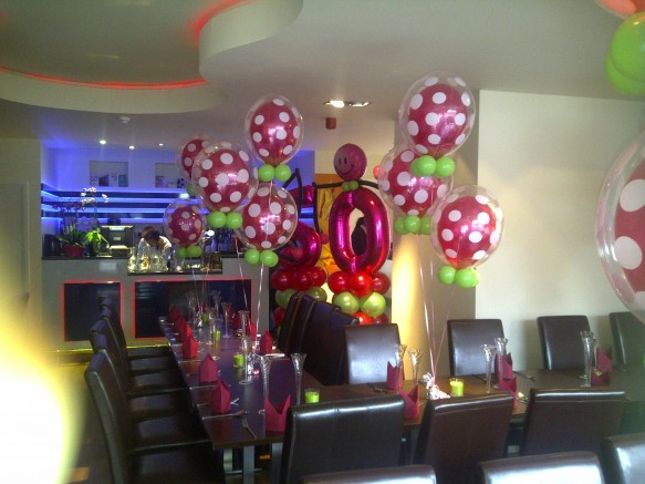 Qualatex deco bubbles give the finishing touch to this 50th birthday party