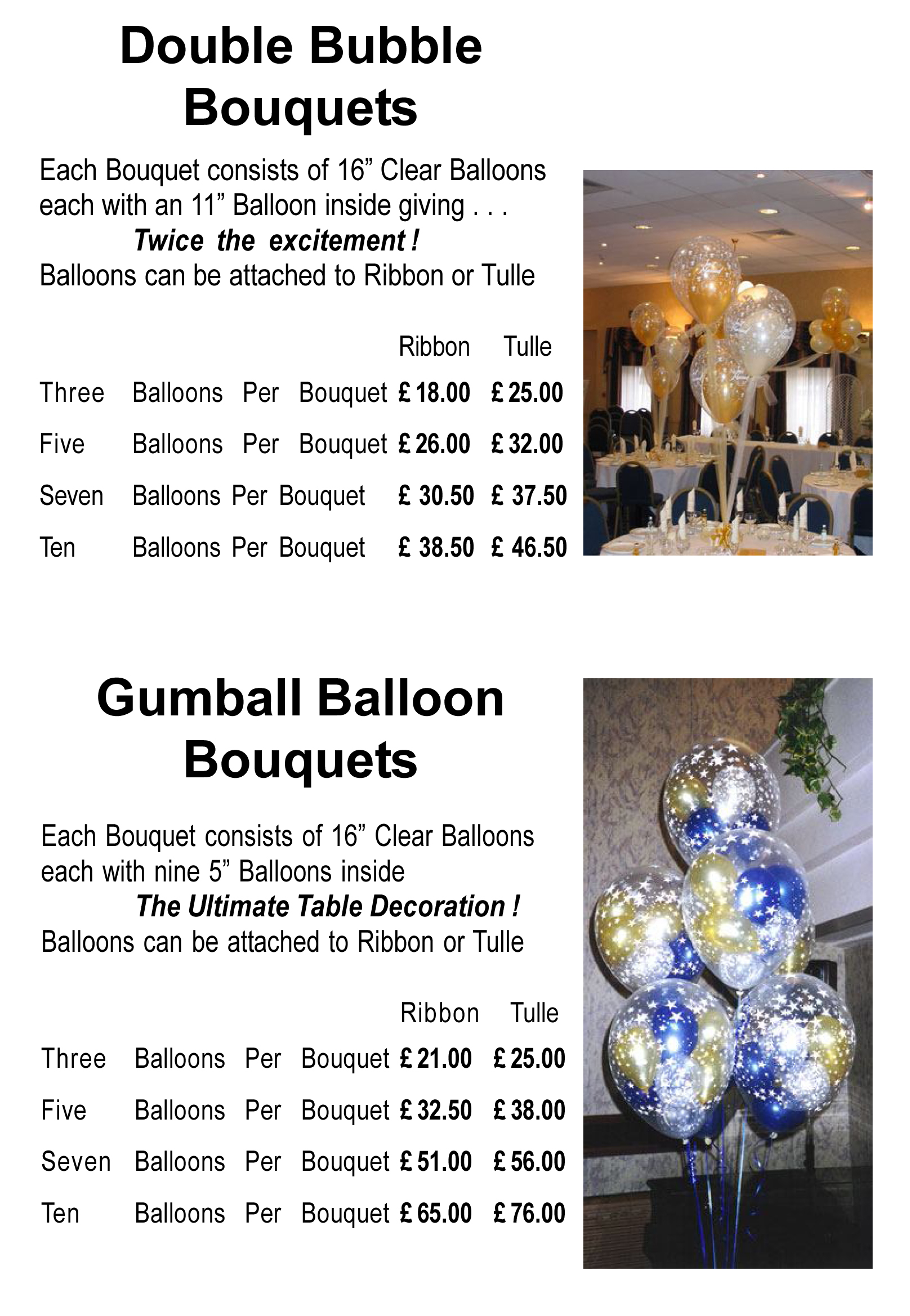 Balloon Decor Price List Matthew Lewis Displays