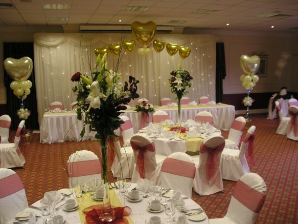 Special Occasion foils and Ivory Star cloth creating this fairy tale back drop
