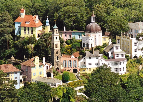 Portmeirion on the edge of Snowdonia, North Wales