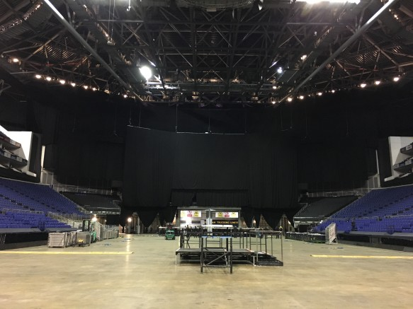 The O2 London, a vast area with 20,00 seated and 10,000 standing. Its a sellout on both dates