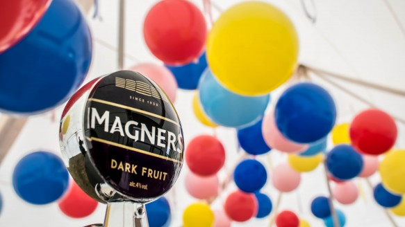 Magners and Balloons .The perfect festival combination