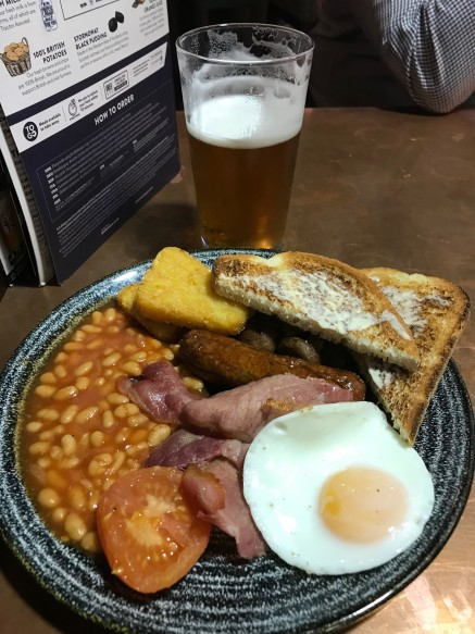 A full English and a breakfast larger. It has to be done